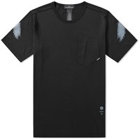 Stone Island Shadow Project Garment Dyed Graphic Tee Black