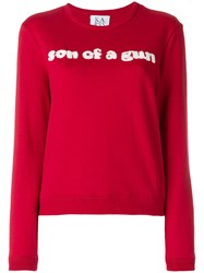 Zoe Karssen Son Of A Gun Sweater Cotton M Red