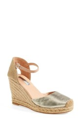 Halogen 'Sandra' Wedge Espadrille Women Metallic