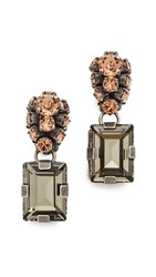Marni Strass Clip On Earrings Antique Silver