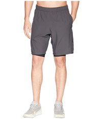 2Xu Training 2 In 1 Compression 9 Shorts Charcoal Nero Workout Gray