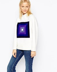 Wood Wood Wendy Square Fade Sweatshirt Portal White
