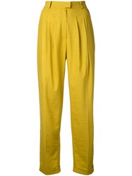 N Duo Tailored Trousers Yellow Orange