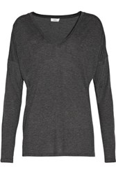 Vince Stretch Jersey Top Charcoal