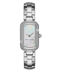 Marc Jacobs The Stainless Steel White Mother Of Pearl Dial Bracelet Watch Silver
