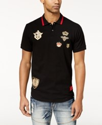 Reason Men's Richmond Embroidered Patch Polo Black