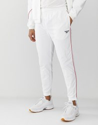 Reebok Joggers With Vector Print In White