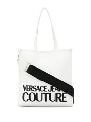Versace Jeans Couture Rubber Logo Contrast Strap Tote Bag 60