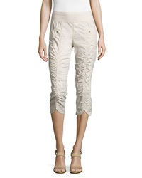 Xcvi Iris Ruched Center Crop Pants Sea Salt