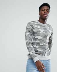 Only And Sons Camo Sweatshirt Grey