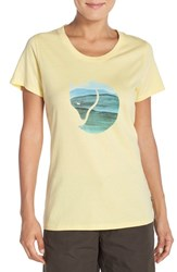 Fjall Raven Women's Fj Llr Ven 'Watercolor Fox' Graphic Tee Pale Yellow
