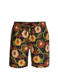 Saturdays Nyc Timothy Peony Print Swim Shorts Black Multi