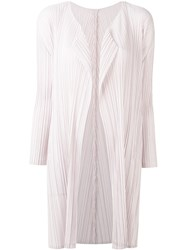Issey Miyake Pleats Please By Pleated Coat Women Polyester 4 Pink Purple