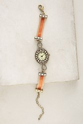 Anthropologie Velvet Recollection Watch Pink