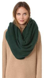 White Warren Cashmere Travel Wrap Scarf Deep Emerald Heather