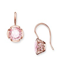 Thomas Sabo Signature Line Sterling Silver Bezel Set Hook Earrings Rose Gold