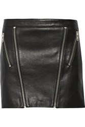 Mason By Michelle Mason Zip Embellished Leather Mini Skirt