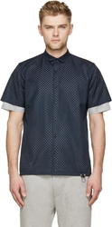 Kolor Navy Perforated Shirt