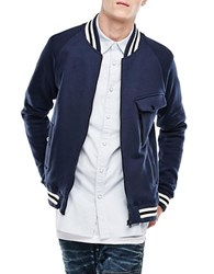 G Star Baseball Bomber Jacket Blue
