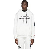 Adidas By Alexander Wang Originals White You For E Yeah Exceed The Limit Hoodie