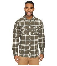 Rip Curl Marin Long Sleeve Flannel Green Men's Long Sleeve Button Up