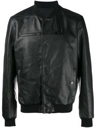 Balenciaga Grained Zipped Teddy Jacket Black