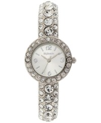 Styleandco. Style And Co. Women's Silver Tone Cuff Bracelet Watch 26Mm Sy016s Only At Macy's