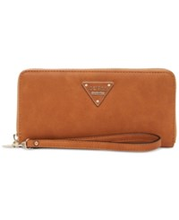 Guess Marisole Large Zip Around Boxed Wallet Cognac