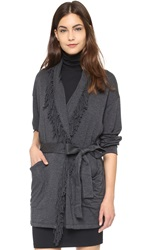 Riller And Fount Ida Oversized Fringe Cardigan Stud French Terry