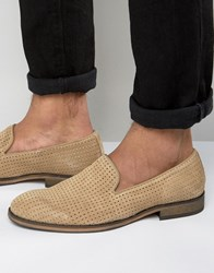 Selected Homme Bolton Perforated Loafers Sand Stone