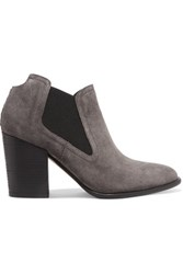 Sigerson Morrison Gamela Suede Ankle Boots Anthracite