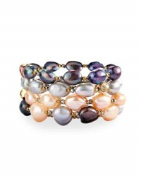 Nakamol Multihued Baroque Pearl Stretch Bracelets