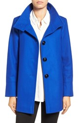 Larry Levine Women's Wool Blend Swing Coat Cobalt