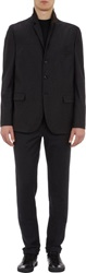 Thinple Three Button Flannel First Sportcoat Black Size L