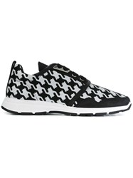 Dsquared2 Barbed Wire Print Sneakers Black