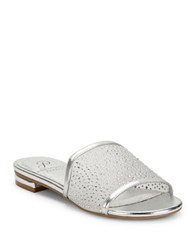 Adrianna Papell Studded Slip On Sandals Silver