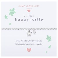 Joma A Little Happy Turtle Beaded Bracelet Silver