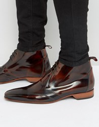 Jeffery West Escobar Punch Detail Chukka Boots Brown
