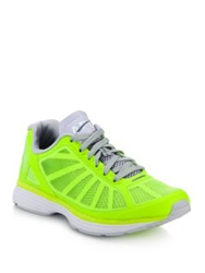 Athletic Propulsion Labs Windchill Mesh Covered Sneakers Lime Rose Magenta