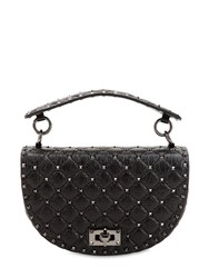 Valentino Garavani Spike Crackled Bag Black