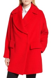 Trina Turk Ruby Wool Blend Coat Tomato