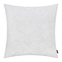 Amara Hand Appliqued Cotton Cushion 50X50cm White