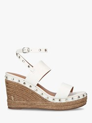 edbe59a81f2 Alma Leather Studded Espadrille Wedge Sandals White