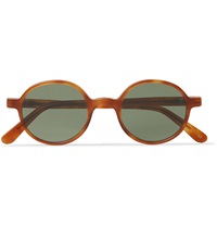 L.G.R Round Frame Acetate Sunglasses Brown