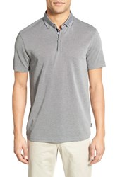 Ted Baker Men's London 'Missow' Modern Trim Fit Pique Polo Grey