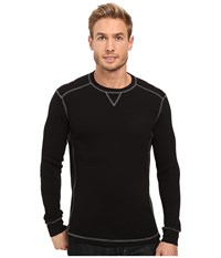 Mod O Doc Seacliff Long Sleeve Crew Thermal Crew Black Men's Long Sleeve Pullover