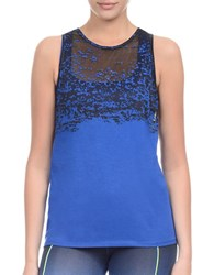 2Xist Burnout Cotton Blend Tank Cobalt