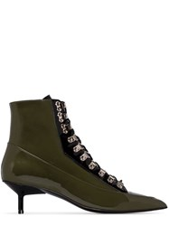 Marques Almeida Marques'almeida Lace Up 50Mm Ankle Boots Green