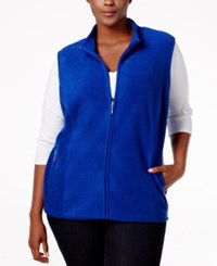 Karen Scott Plus Size Fleece Vest Only At Macy's Bright Blue