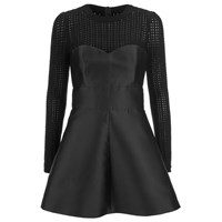 Red Valentino Redvalentino Women's Knit Top Party Dress Black